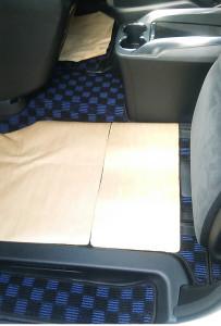 ヴェル助手席用ラグマット2