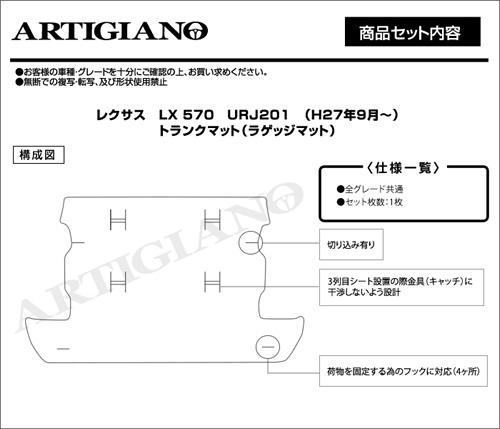 レクサスLXトランク構成図